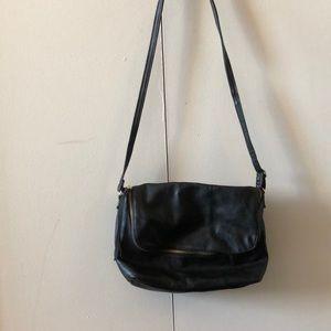 H&M Cross body black leather purse